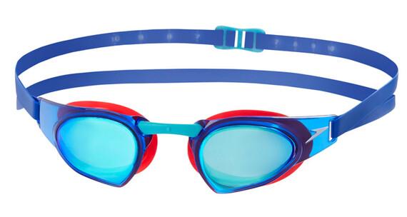 speedo Fastskin Prime Mirror Okulary pływackie czerwony/niebieski